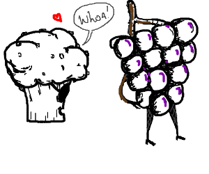 Trouble Muffin meets Lady Grapes