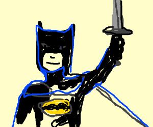 Batman has a sword