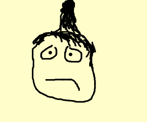 Clueless dude with a hair boner
