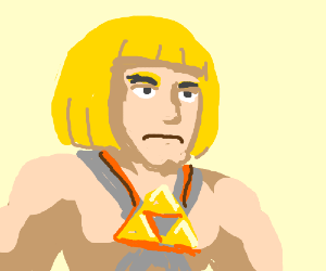 he-man with triforce necklace