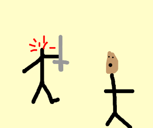 Headless stickfigure attacks indian