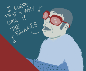 Elton John sings about the blues