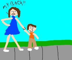 Step on a crack, break your mother's back