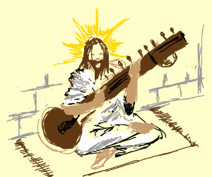 Jesus played Sitar, jammin' good.