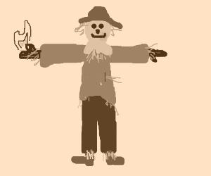 uh-oh, a firestarter scarecrow