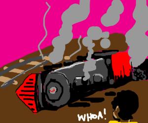 man witnesses horrifying train crash