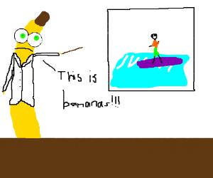 Surfing huge waves is Bananas!