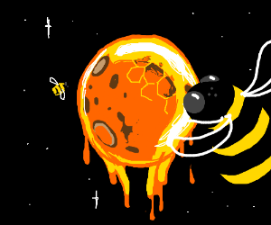 Bees on a honey planet.