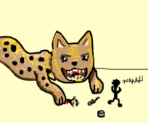 Giant cheetah devours emo band