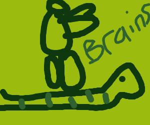 Zombie sleep walks on snake's back