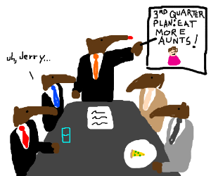 Business anteater has never been so embarassed
