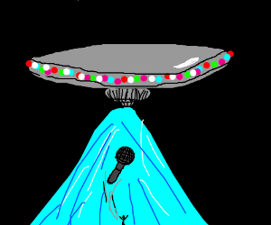 alien abducts microphone from person