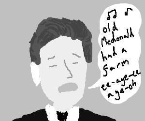 Sam Palladio singing a song