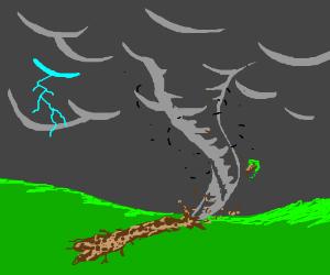 A tornado.