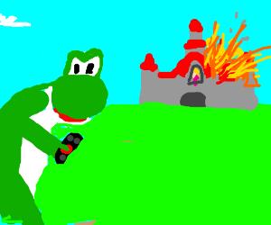 Yoshi the BAMF dinosaur