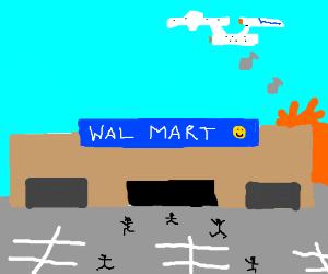 The starship enterprise bombs walmart.