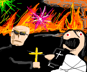 Exorcism with EXPLOSIONS AND FIRE!