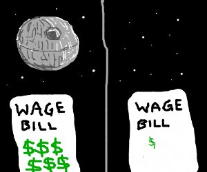 No Death Star means fewer salaries to pay.