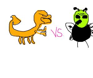 Scorpion duck vs Alien fly