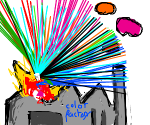 An explode on color factory!