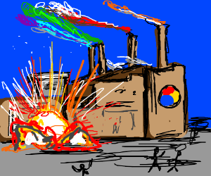 There was an explosion at the Colour Factory