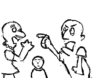 Image result for angry parents drawing