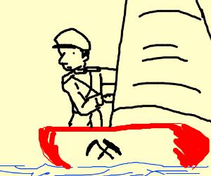 Communist sailboat