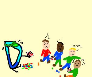 Kid has no idea how to play Drawception