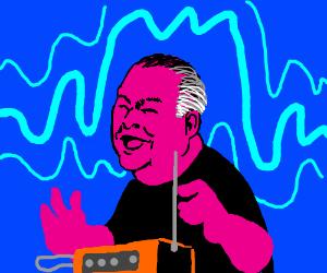 Rush Limbaugh plays the theremin