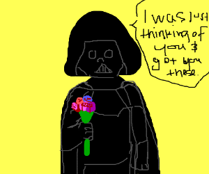 Darth Vader becomes a nice guy all the sudden.