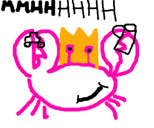 Crab god appraising some items.