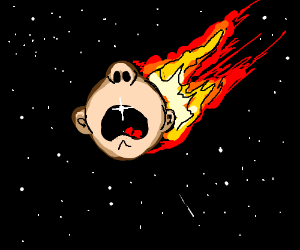Flaming baby ball meteor