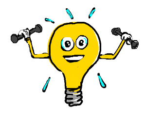 light bulb tries hard to stay in shape