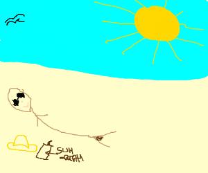 guy sunbathing naked