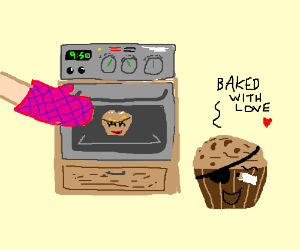 Somebody is baking Trouble Muffin a girlfriend