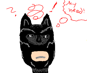 BatMan has a giant head ache