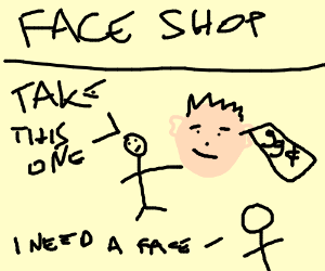 Get this guy's face, only 99 cents!