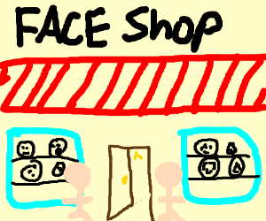 Face shop sells faces to the faceless
