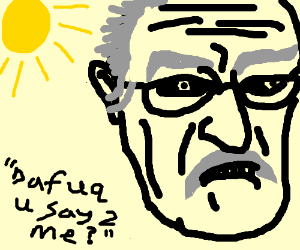 Portrait of Paul Coates with sun behind him