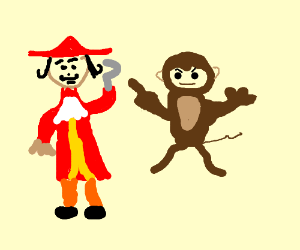 Captain Hook has issues with monkey