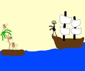 Ship brings death to Monkeys