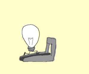 Light bulb on a treadmill