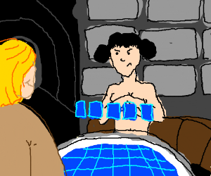 Luke and Leia play strip poker
