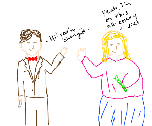 11th Doctor meets fat rose tyler while stalked