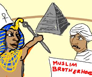 """A pharaoh says """"YOLO! No Morsi!"""""""
