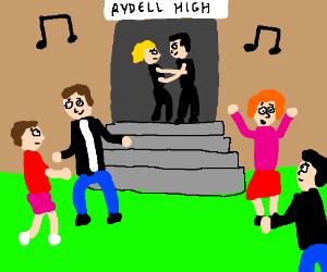 High School students dancing