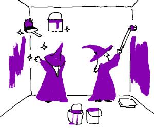 Painting purple wizards