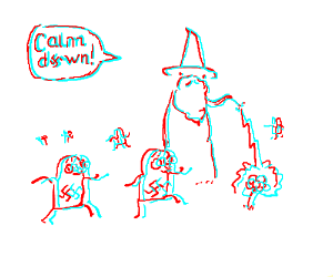 Gandalf is miffed by misbehaving Hitler Youth