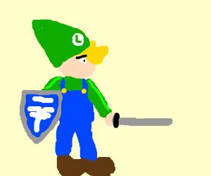 A mix between Luigi and Link