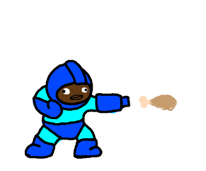 Megaman's fried chicken attack has no effect